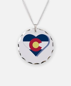 Colorado Flag Heart Necklace