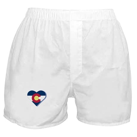 Colorado Flag Heart Boxer Shorts