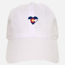 Colorado Flag Heart Baseball Baseball Cap