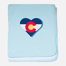 Colorado Flag Heart baby blanket