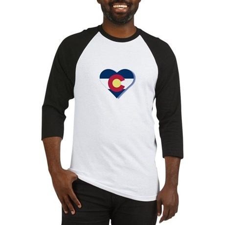 Colorado Flag Heart Baseball Jersey