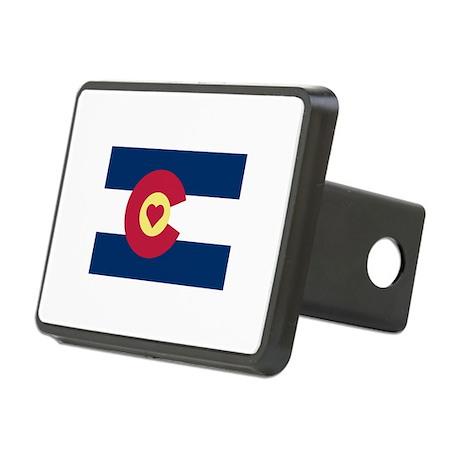 I Love Colorado Rectangular Hitch Cover