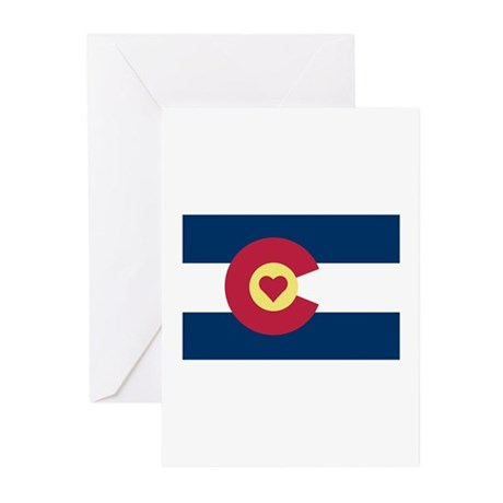 I Love Colorado Greeting Cards (Pk of 10)