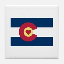 I Love Colorado Tile Coaster