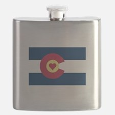 I Love Colorado Flask