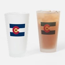 I Love Colorado Drinking Glass