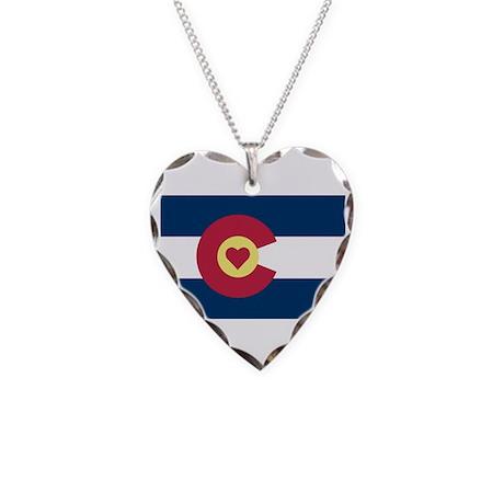 I Love Colorado Necklace Heart Charm