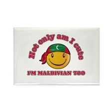 Cute and Maldivian Rectangle Magnet