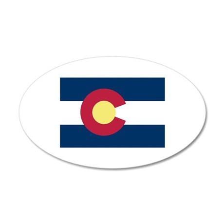 I Love Colorado 20x12 Oval Wall Decal