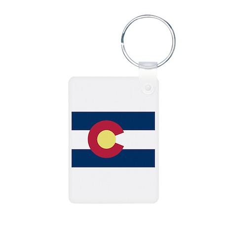 I Love Colorado Aluminum Photo Keychain