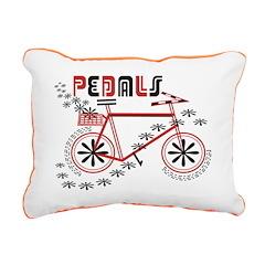 Pedals Cyclist Rectangular Canvas Pillow