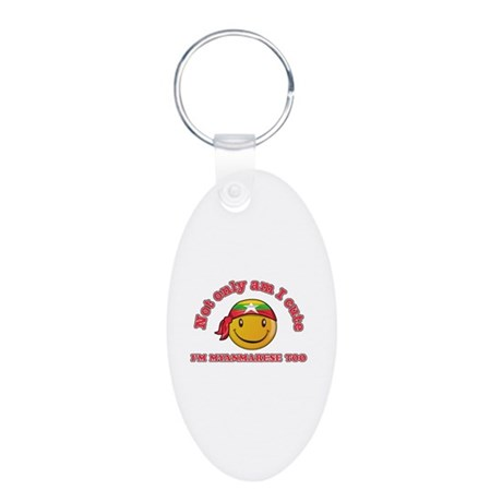 Cute and Myanmarese Aluminum Oval Keychain