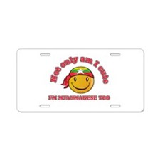 Cute and Myanmarese Aluminum License Plate