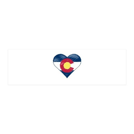 I Love Colorado 20x6 Wall Decal