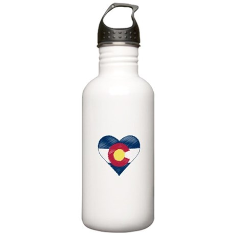 I Love Colorado Stainless Water Bottle 1.0L