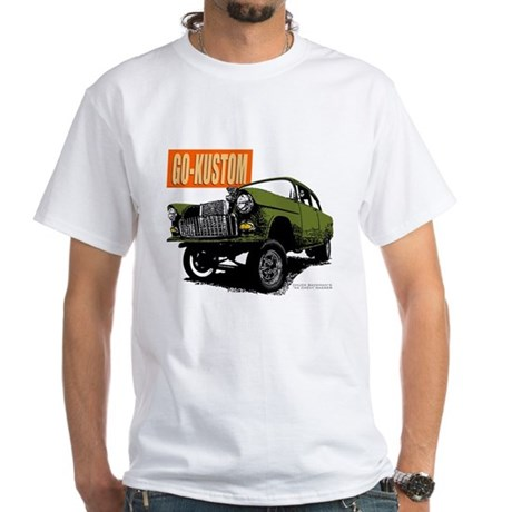 Gktv Backmans 55 Chevy Gasser White T Shirt Gktv Backmans