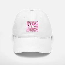 Tribute Square Breast Cancer Baseball Baseball Cap