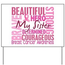 Tribute Square Breast Cancer Yard Sign