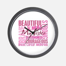 Tribute Square Breast Cancer Wall Clock