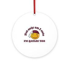 Cute and Qatari Ornament (Round)