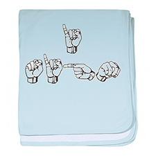 I Sign baby blanket
