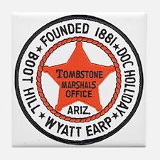 Tombstone Marshal Tile Coaster