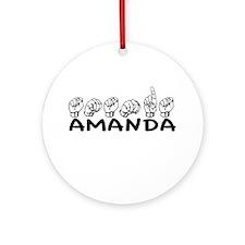 ASL Amanda Ornament (Round)