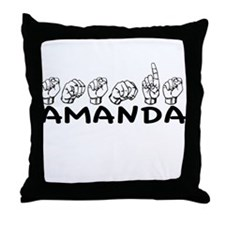 ASL Amanda Throw Pillow