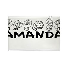 ASL Amanda Rectangle Magnet