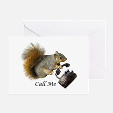 Squirrel Phone Call Greeting Card