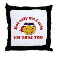 Cute and Thai Throw Pillow