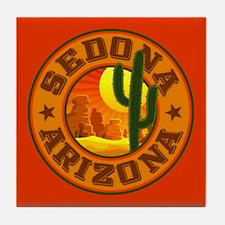 Sedona Desert Circle Tile Coaster