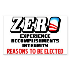 """Zero: Barack Obama"" Decal"