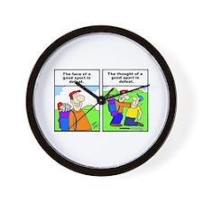 Golf cartoon Wall Clock