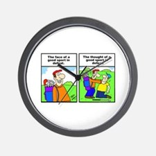 Golf cartoon Wall Clock