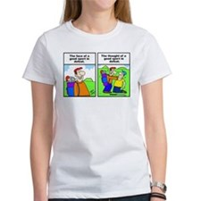Golf cartoon Tee