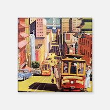 "Vintage San Francisco Square Sticker 3"" x 3"""