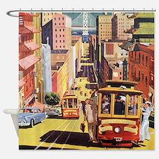 Vintage San Francisco Shower Curtain