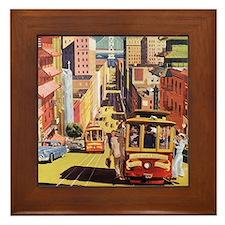 Vintage San Francisco Framed Tile