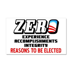 """Zero: Barack Obama"" Car Magnet 20 x 12"