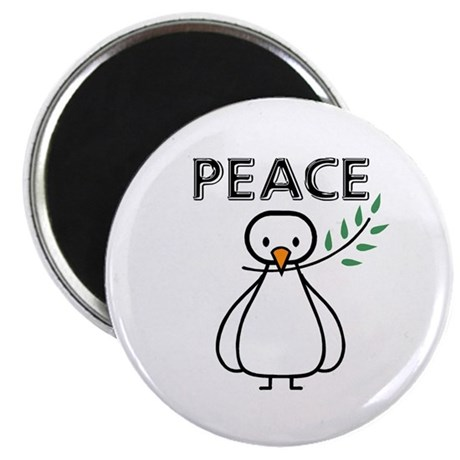 """White Dove Peace 2.25"""" Magnet (100 pack)"""