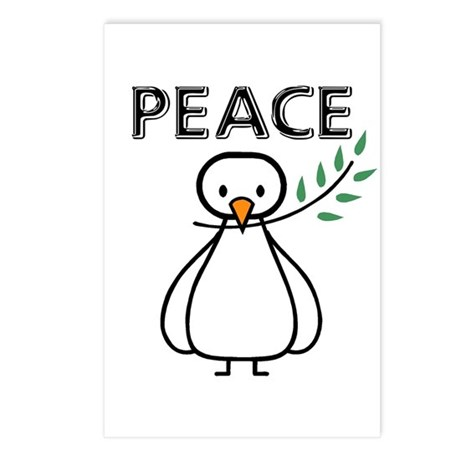 White Dove Peace Postcards (Package of 8)