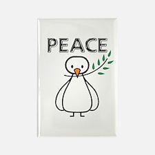 White Dove Peace Rectangle Magnet