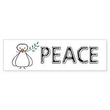 White Dove Peace Bumper Bumper Sticker