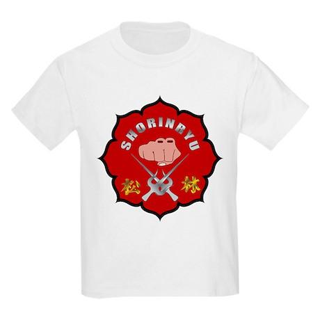 red shorinryu logo kids light tshirt red shorinryu logo
