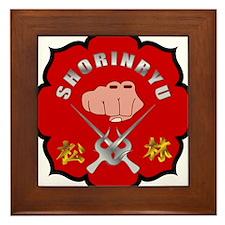 Red Shorin-Ryu Logo Framed Tile