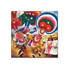 "Vintage Mexico Square Sticker 3"" x 3"""