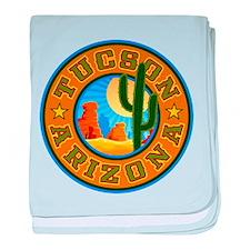 Tucson Desert Circle baby blanket