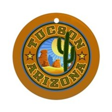 Tucson Desert Circle Ornament (Round)