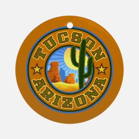 Tucson Desert Circle Ornament (Round)